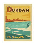 Durban, South Africa: The Golden Mile Posters af Anderson Design Group