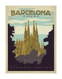 Barcelone, Espagne Impression giclée par  Anderson Design Group