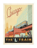 Chicago: The 'L' Train Kunstdrucke von  Anderson Design Group