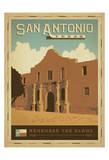 San Antonio, Texas: Remember The Alamo Prints by  Anderson Design Group