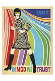 In Mod We Trust (Go Go Dancer) Print by  Anderson Design Group