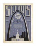 St. Louis, Missouri: Gateway City Poster by  Anderson Design Group