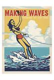 Making Waves Soaking Up The Sun! Affiche par  Anderson Design Group