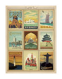 World Travel Multi Print II Plakater af Anderson Design Group