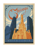 Chicago Water Tower Prints by  Anderson Design Group