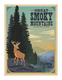 Parque Nacional Great Smoky Mountains Lámina por Anderson Design Group