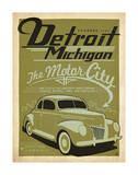 Detroit, Michigan: The Motor City Poster by  Anderson Design Group