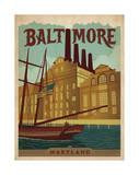 Baltimore, Maryland Giclée-tryk af Anderson Design Group