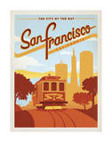 San Francisco, California: The City By The Bay Poster von  Anderson Design Group