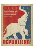 Vote Republican (Elephant) Prints by  Anderson Design Group