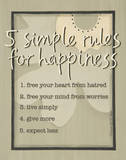 Five Simple Rules Posters by Karen Tribett