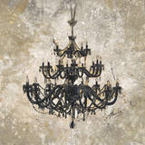 Onyx Chandelier Print by Marta Wiley