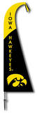 NCAA Iowa Hawkeyes Feather Flag Flag
