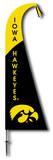 NCAA Iowa Hawkeyes Feather Flag Flag