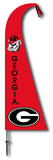 NCAA Georgia Bulldogs Feather Flag Flag