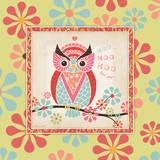 Owl 4 Frame Láminas por Stephanie Marrott