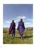 Maasai Herdsmen Photographic Print by Nigel Barker