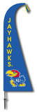 NCAA Kansas Jayhawks Feather Flag Flag
