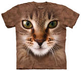 Youth: Striped Cat Face T-Shirt