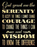 Serenity Prayer Art by Helen Chen