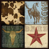 Cowboy 4 Patch I Prints by Stephanie Marrott