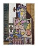 Femme assise devant la fenetre Kunst af Pablo Picasso