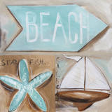 Where's the Beach Prints by Amanda J. Brooks