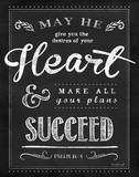 Chalkboard Psalm 20 Print by Jennifer Pugh