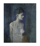 Pablo Picasso - Girl in a Chemise, c. 1905 - Tablo
