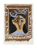 Jacqueline au Chapeau a Fleurs Prints by Pablo Picasso