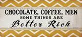 Chocolate Coffee Men Posters by Jennifer Pugh