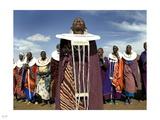 Maasai Dance Photographic Print by Nigel Barker