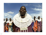 Maasai Smile Photographic Print by Nigel Barker