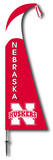NCAA Nebraska Cornhuskers Feather Flag Flag