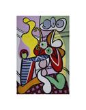 Large Still Life with Pedestal Table Kunst von Pablo Picasso