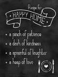 Happy Home Recipe Plakater av Anna Quach