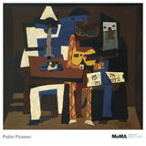 Les trois musiciens Affiches par Pablo Picasso