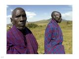 Maasai Herdsmen II Photographic Print by Nigel Barker