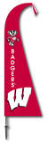 NCAA Wisconsin Badgers Feather Flag Flag
