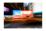 Fluorescent Flag II Photographic Print by Nigel Barker