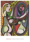Mädchen vor einem Spiegel Kunstdrucke von Pablo Picasso
