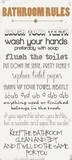 Badrumsregler, engelska Affischer av Anna Quach