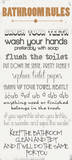 Bathroom Rules Posters by Anna Quach