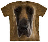 Youth: Great Dane Face T-shirts