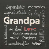 Grandpa Love Print by Karen Tribett