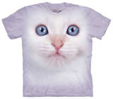 Youth: White Kitten Face T-shirts