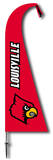 NCAA Louisville Cardinals Feather Flag Flag