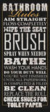 Bathroom Rules Print by Jim Baldwin