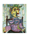 Seated Portrait of Dora Maar Láminas por Pablo Picasso