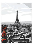 Paris I Posters by Jo Fairbrother